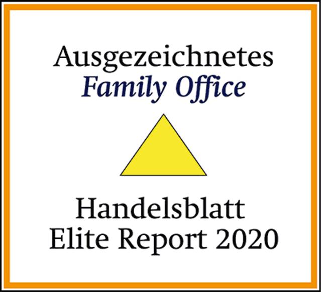 Handelsblatt Elite 2020 Ausgezeichnetes Family Office